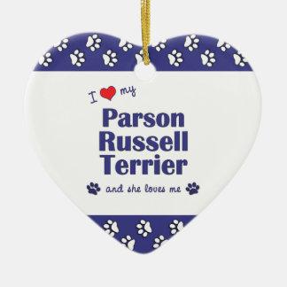 Amo a mi párroco Russell Terrier (el perro Adorno