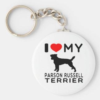 Amo a mi párroco Russell Terrier Llavero