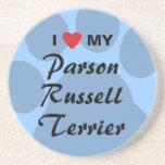 Amo a mi párroco Russell Terrier Posavasos Manualidades