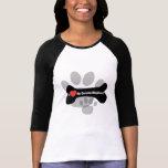 Amo a mi pastor alemán - hueso de perro camisetas