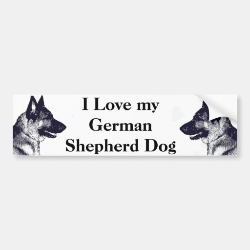 Amo a mi pastor alemán pegatina para auto