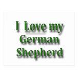 Amo a mi pastor alemán postal
