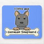 Amo a mi pastor alemán tapete de ratón