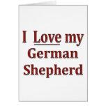 Amo a mi pastor alemán tarjeton