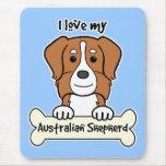 Amo a mi pastor australiano alfombrilla de raton