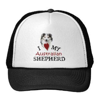 Amo a mi pastor australiano gorros