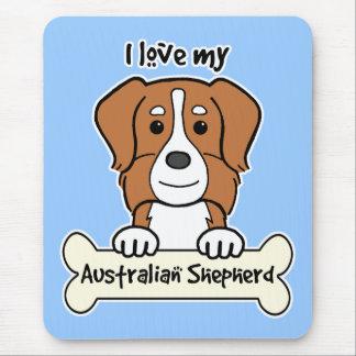 Amo a mi pastor australiano mousepad