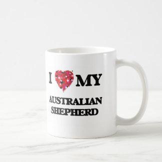 Amo a mi pastor australiano taza clásica