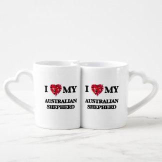 Amo a mi pastor australiano taza para parejas