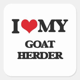 Amo a mi pastor de la cabra pegatinas