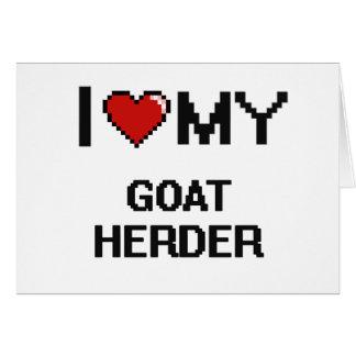 Amo a mi pastor de la cabra tarjeta pequeña
