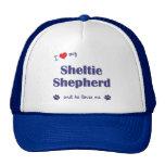 Amo a mi pastor de Sheltie (el perro masculino) Gorro De Camionero