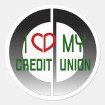 Amo a mi pegatina de Credit Union