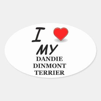 Amo a mi pegatina de Dandie Dinmont Terrier