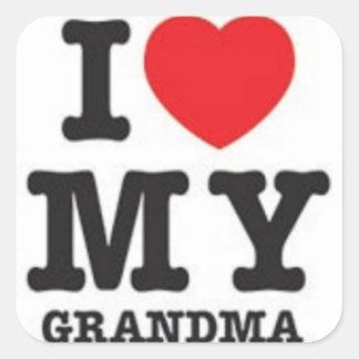 Amo a mi pegatina de la abuela