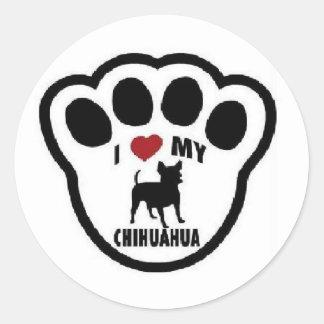 Amo a mi pegatina de la ventana de la chihuahua