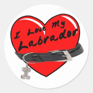 Amo a mi pegatina de Labrador