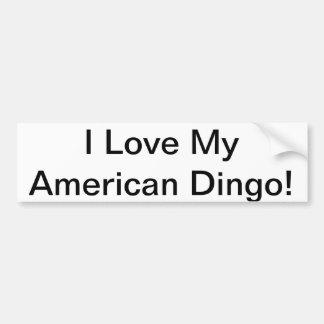 Amo a mi pegatina para el parachoques americana de pegatina para auto