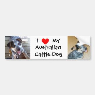 Amo a mi pegatina para el parachoques australiana  pegatina de parachoque