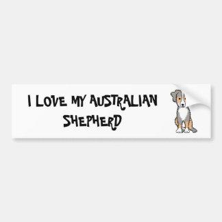 Amo a mi pegatina para el parachoques australiana pegatina para auto