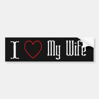 Amo a mi pegatina para el parachoques de la esposa pegatina para auto