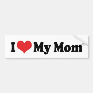 Amo a mi pegatina para el parachoques de la mamá pegatina para auto