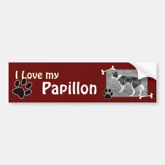 Amo a mi pegatina para el parachoques de Papillon Pegatina Para Auto