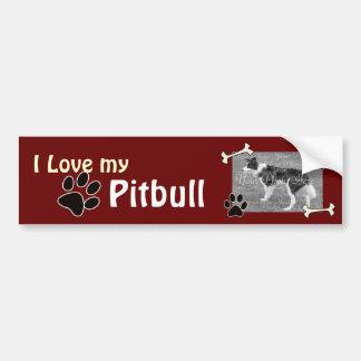 Amo a mi pegatina para el parachoques de Pitbull Pegatina Para Auto