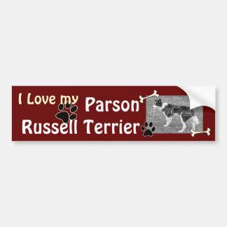 Amo a mi pegatina para el parachoques de Russell T Pegatina Para Auto