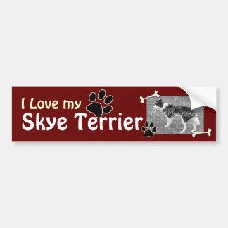 Amo a mi pegatina para el parachoques de Skye Terr Pegatina Para Auto