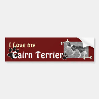 Amo a mi pegatina para el parachoques de Terrier d Pegatina Para Auto