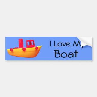 Amo a mi pegatina para el parachoques del barco pegatina para auto