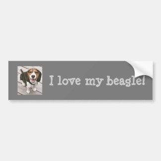 Amo a mi pegatina para el parachoques del beagle pegatina para auto