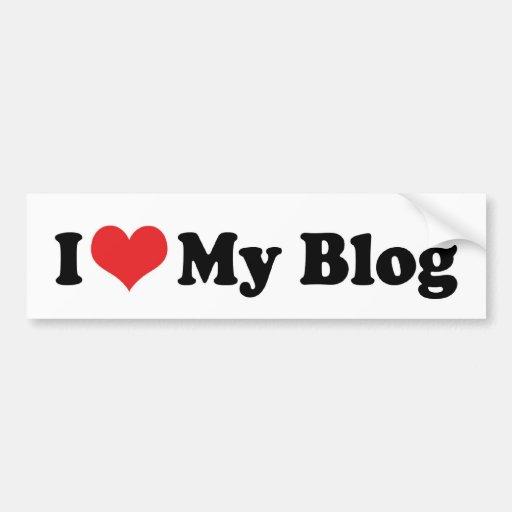 Amo a mi pegatina para el parachoques del blog pegatina para auto