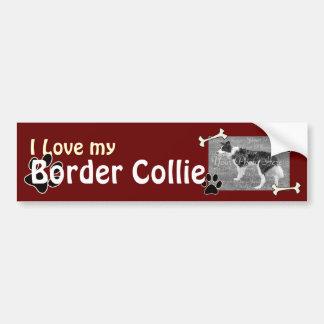 Amo a mi pegatina para el parachoques del border c pegatina para auto