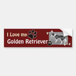 Amo a mi pegatina para el parachoques del golden r pegatina para auto