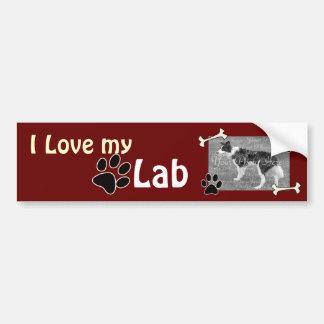 Amo a mi pegatina para el parachoques del laborato pegatina para auto
