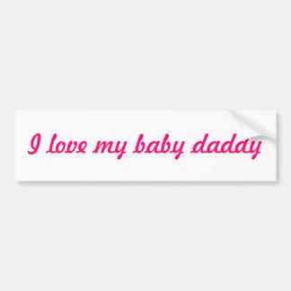 Amo a mi pegatina para el parachoques del papá del pegatina para auto