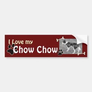 Amo a mi pegatina para el parachoques del perro ch pegatina para auto