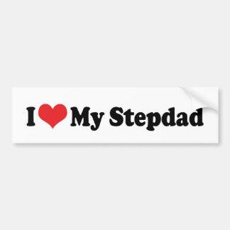 Amo a mi pegatina para el parachoques del Stepdad Pegatina Para Auto