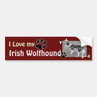 Amo a mi pegatina para el parachoques del Wolfhoun Pegatina Para Auto