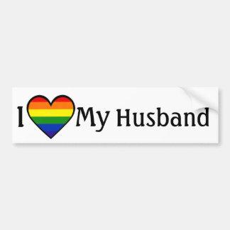 Amo a mi pegatina para el parachoques gay <3 del m pegatina para auto