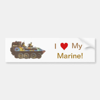 Amo a mi pegatina para el parachoques marina del s pegatina para auto