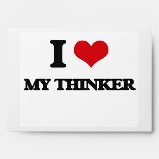 Amo a mi pensador sobres