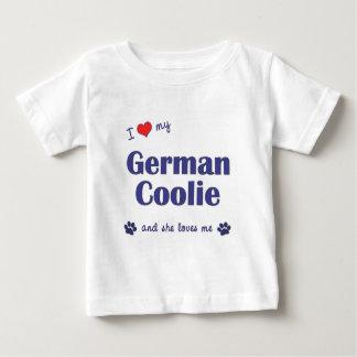 Amo a mi peón alemán (el perro femenino) playeras