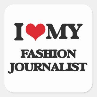Amo a mi periodista de la moda pegatina