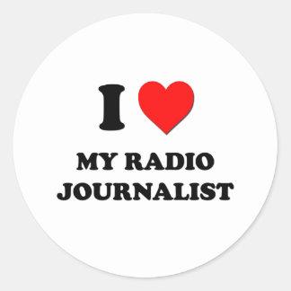 Amo a mi periodista de radio etiqueta redonda