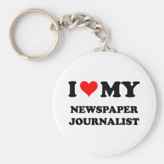 Amo a mi periodista del periódico llavero redondo tipo pin