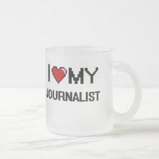 Amo a mi periodista taza cristal mate