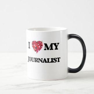 Amo a mi periodista taza mágica